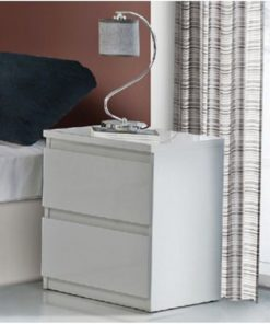 White Gloss Bedside Table