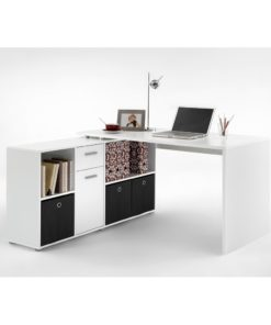 White Flexi Corner Office Desk