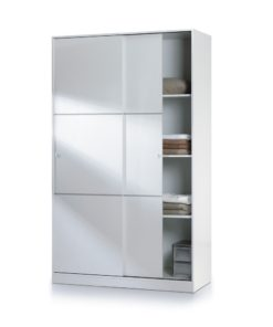 White gloss wardrobe uk