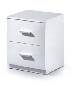 White Gloss Bedside Chest Of Drawer