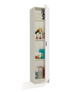 Multi Purpose White Narrow Storage Cupboard