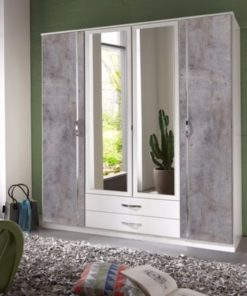 big wardrobe with mirror