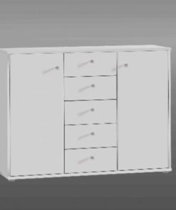 White Sideboard Or Stationery Cupboard