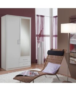 2 Door Wardrobe White