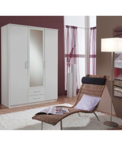 3 door 2 drawer alpine white wardrobe