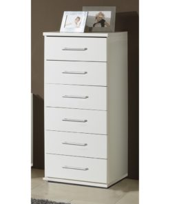 Alpine white Effect Narrow Chest Of Drawers