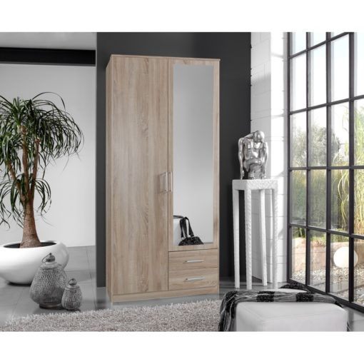 Wardrobe With 2 Door and 2 drawer