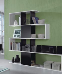 Black and White Gloss Bookcase